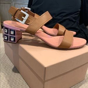 Authentic Miu Miu Crystal embellished heels 38.5